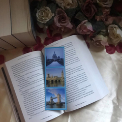 London Bookmarks - Upcycled from Expired Calendars