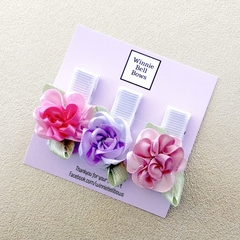 Floral Baby Clips