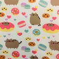 Pusheen scrunchie - soft plush large size scrunchie