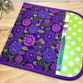 A4 Reading folder - Purple/green Floral