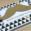 Father's Day card - gold moustache