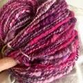 Handspun art yarn, soft merino x approximately 120g