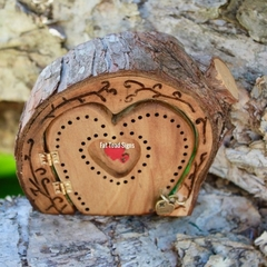 Rustic Love Heart Wilderness Fairy Door