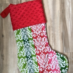 Personalised Christmas Stocking - Christmas Scroll