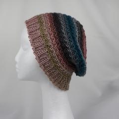 Hat handmade 100% acrylic spring autumn crocheted loose back