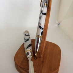 Hand turned pen and letter set