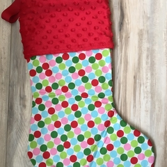 Personalised Christmas Stocking - Polka Dots