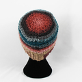 Hat handmade 100% acrylic spring autumn crocheted loose back