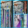 Dream Catcher Mermaid Beach Amethyst Purple Turquoise Aqua Starfish Seahorse