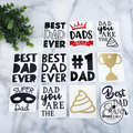No #1 Dad Father's Day Sticker Decal Vinyl Label