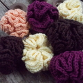 1 crocheted bath scrubbie made from bamboo fibre - small  Choose your colour