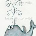 Spouting Love  Watercolour print Digital Download