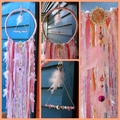 Dream Catcher Rose Quartz Crystal Ribbon Pink Rose Gold Baby Flower Girl