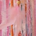 Dream Catcher Rose Quartz Crystal Ribbon Pink Rose Gold Baby Flower Girl