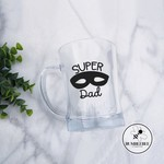 Super Dad Sticker with Hero Mask Father's Day Decal Vinyl Label