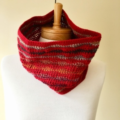 Silk, Wool & Cotton Crochet Cowl