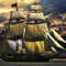 005 Sailing Ship with funnel poster A4 Size