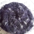 Crocheted hair clip made from mohair blend yarn. Navy, grey and black ON SALE!!!
