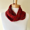Silk, Wool & Cotton Crochet Cowl