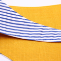 Dog Neckerchief! Bright yellow & blue/white stripe for your pups and doggies!