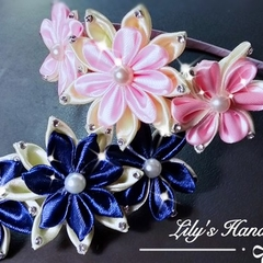 Stunning Handmade hair clip and headband