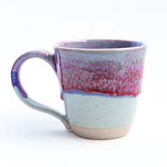 Coffee mug - Handmade Stoneware 'Calypso' purple red blue