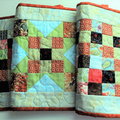 Patchwork Quilted table runner, table decor, autumn colours