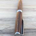 Streamline Pen, ballpoint, chrome, hand turned from Australian apricot tree.