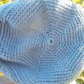 child's crochet beret. Pure wool, light blue and pastels ON SALE!!
