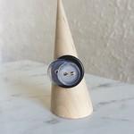 Cool Modern artsy Statement Clear Black button wire ring (Size AU sizeN,US6 1/2)