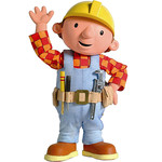 Edible Bob the Builder Rice Paper Character Cake Topper