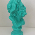 Beard Man Candle: Turquoise