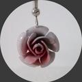 Postage free Pink rose earrings