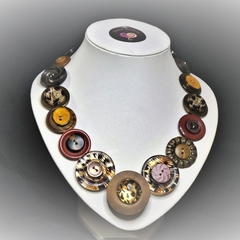 Button necklace - African Safari