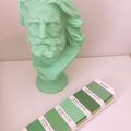 Beard Man Candle: Pastel Green