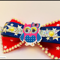 Cute Owl Hair Bow comes with a Barrette Snap Clip.