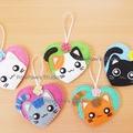 Cat Heart Ornament Nursery Home Decor Christmas Birthday Gift Hanging Charm