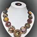 Button necklace - African Safari