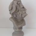 Beard Man Candle: Taupe