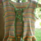 hand knit and crocheted vest for child. 100% cotton ON SALE!!!