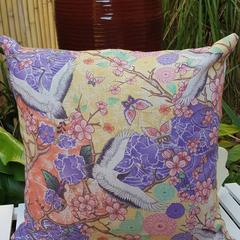 Beautiful Crane Japanese Cushion with 100% Recycled Insert