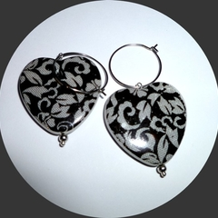 Heart earring. Free postage