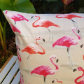 Flamingo Pink Cushion with 100% Recycled Insert