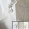 Small cut glass bead drop earrings ( Pink Silver Gray , Minimal Cute Modern )