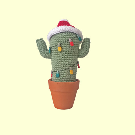 Crochet Cactus with Fairy Lights