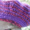 child's crocheted beret, acrylic, purple and pink ON SALE!!!