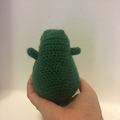 Crochet avocado stuffed toy