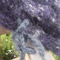 knitted beanie with drawstring. mohair and acrylic. purples ON SALE!!!