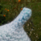 child's crocheted gumnut hat, acrylic.  blue, mauve, green and white ON SALE11