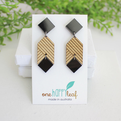 Statement earrings - gift for wife - large earrings - ethical jewelry